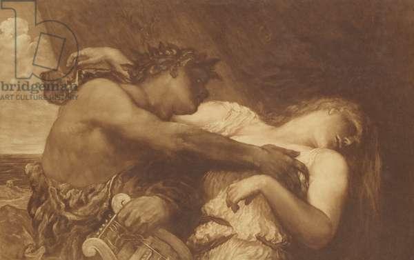 Orpheus and Eurydice, 1870-72 (mezzotint)