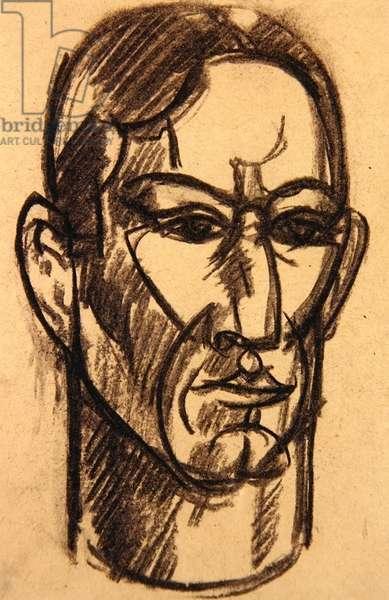 Self Portrait, Paris (conte crayon on paper)