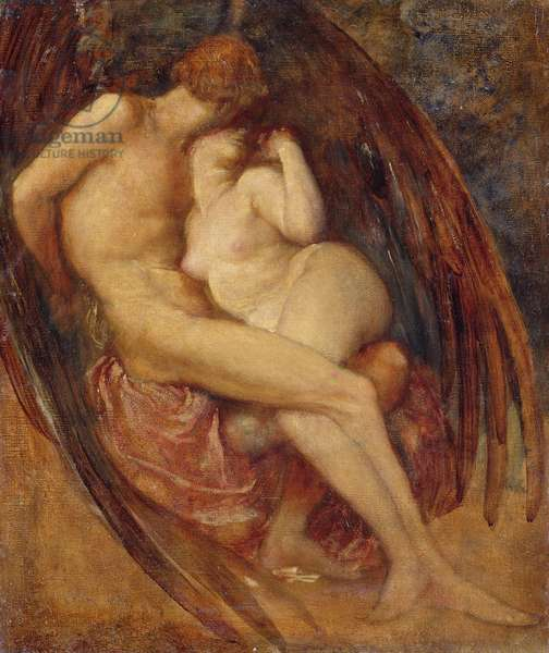 Satan and Sin (oil on canvas)
