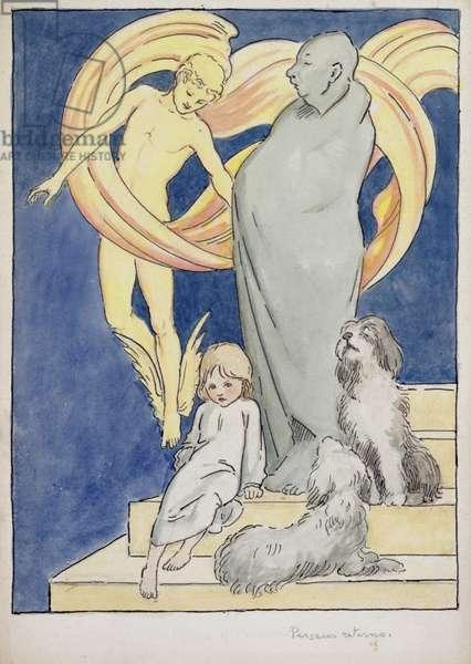 Perseus Returns, c.1904-05 (w/c, pen & ink on paper)