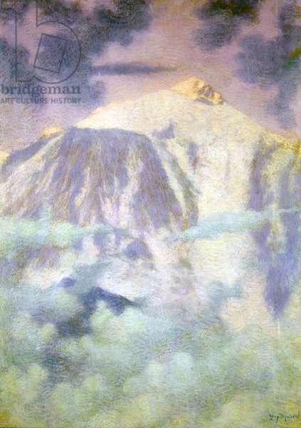 Montagnes Paysage de Reve (pastel on paper)