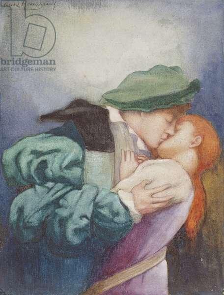 The Kiss, c.1905 (w/c & gum arabic on paper)