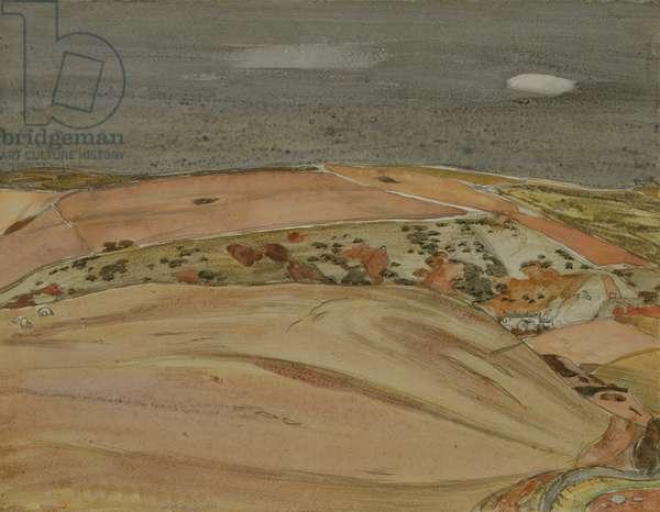 Autumn Near Heriot, 1951 (pencil & w/c on paper)
