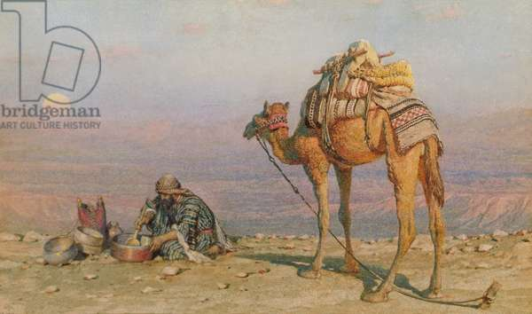 The Evening Meal, 1881 (w/c on paper)