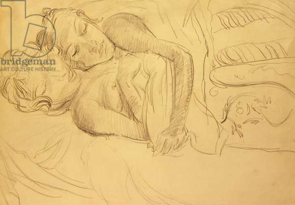 The Indian Sisters, 1930 (pencil on paper)