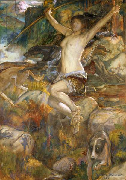 Diana of the Hunt, 1901 (w/c on paper)