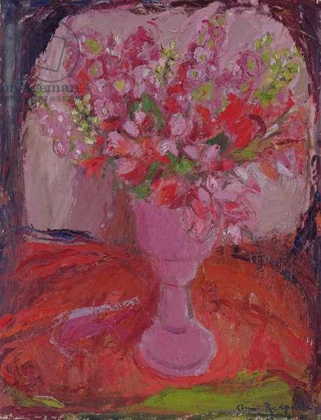 Pink Flowers, c.1948 (oil on board)