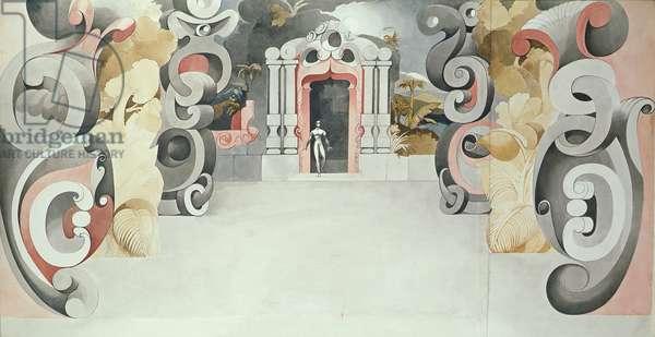Don Juan Set Project, 1948 (w/c on paper)