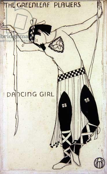 Dancing Girl, 1915 (pen & ink on paper)