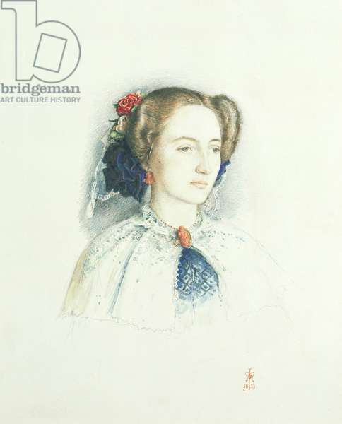 Portrait of Effie Ruskin, later Lady Millais (nee Euphemia Chalmers Gray), 1853 (w/c on paper)
