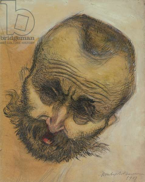 Head Study, 1909 (pen and ink wash)