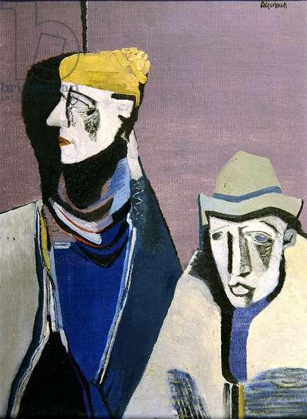 Two Irishmen, 1946 (oil on canvas)