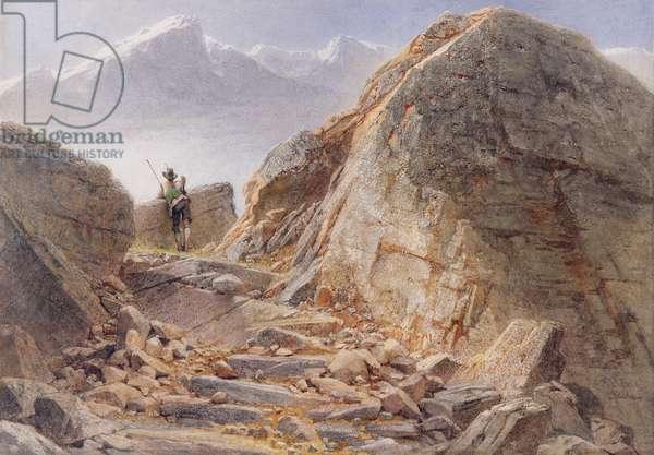 At the Foot of Watzmann, Bavarian Highlands, 1857 (w/c on paper)