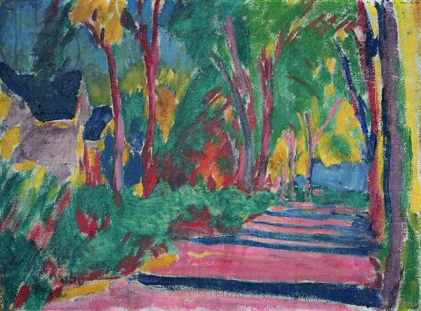Wooded road, 1912 (oil on canvas)