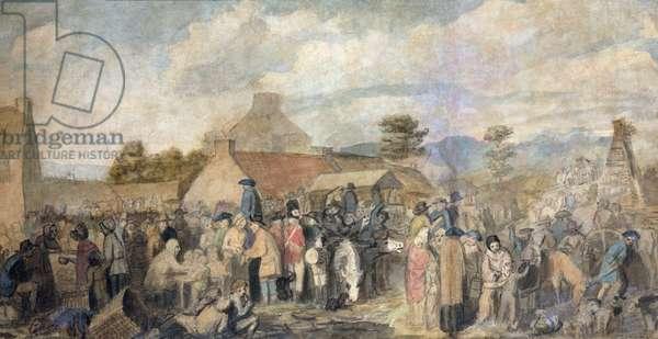 Pitlessie Fair, 1804 (w/c on paper)