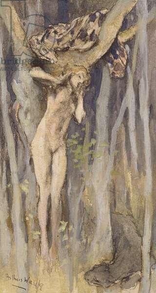 Hamadraid - Spirit of a Tree, c.1890 (pastel, pencil & w/c on paper)