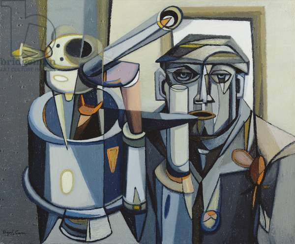 Man and Machine III (oil on canvas)