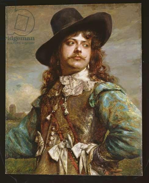 A cavalier (oil on panel)