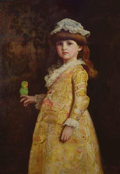 Portrait of Miss Margaret Millais, 1883 (oil on canvas)