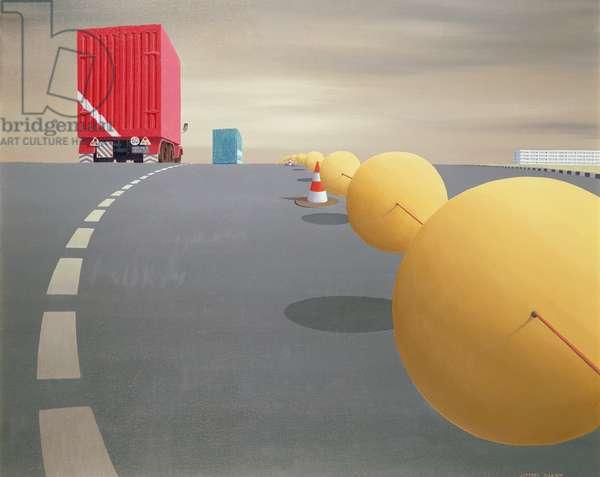 The Guiding Spheres (oil & acrylic on canvas)