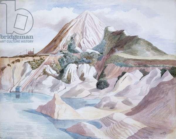 China Clay Matterhorn, 1952 (w/c & pencil on paper)