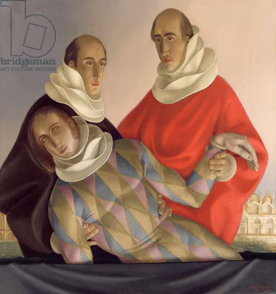 Funeral of Harlequin, 1951 (oil on canvas)