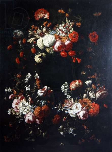 A Flower Piece (oil on canvas)