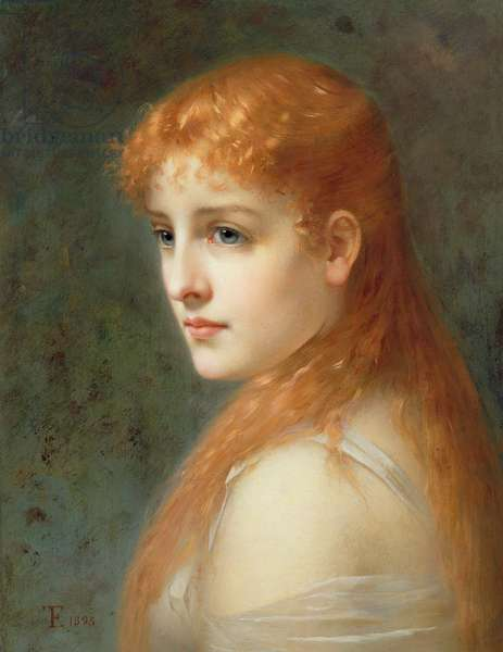 Young girl with red hair, 1895 (oil on canvas)