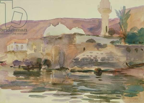 Lake Tiberias (watercolour on paper)