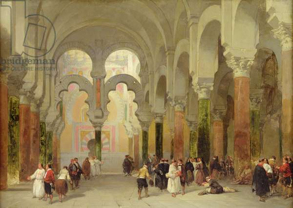 The Sanctuary of the Koran, Mosque at Cordoba, 1849 (oil on panel)