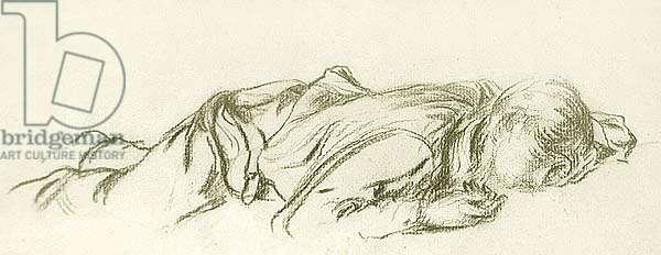 Sleeping Boy, 1890 (chalk on paper)