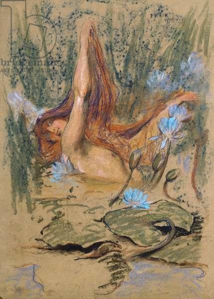 Nymphea, c.1890 (pastel, pencil & w/c on paper)