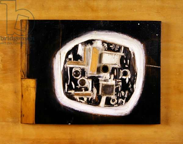 Black and White Relief, 1961 (wood, metal & paint on plywood)