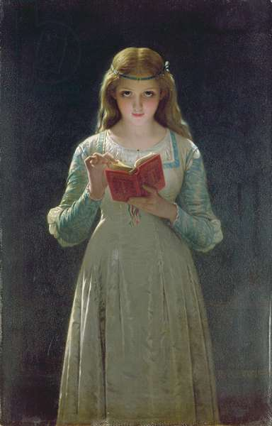 The Reader (oil on panel)