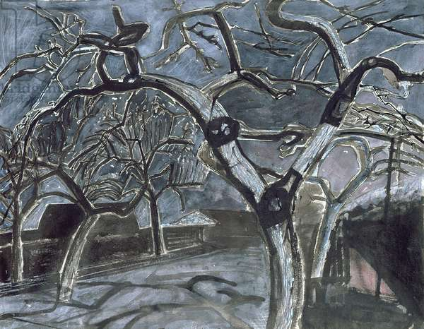 The Garden at Night, 1954 (w/c on paper)