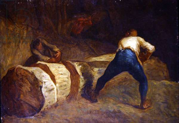 The Woodcutters (oil on canvas)