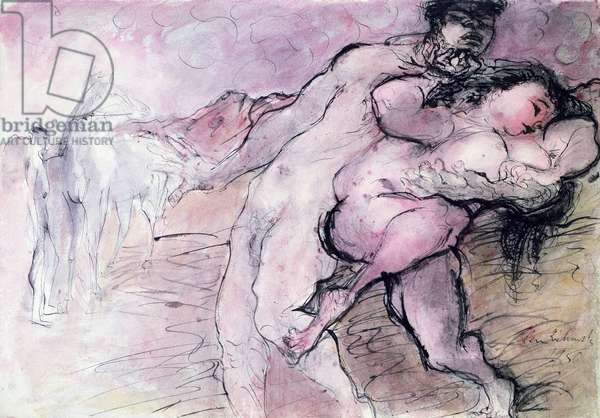 The Rape of the Sabines, 1950 (pen, ink & w/c on paper)