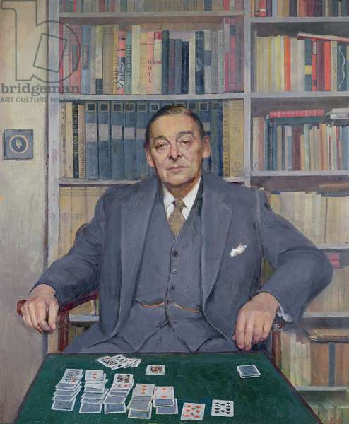 Portrait of T S Eliot, 1962 (oil on canvas)