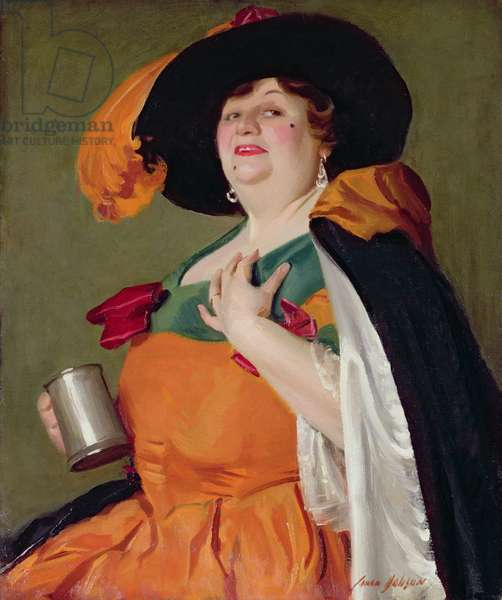 Moll Flanders (oil on canvas)