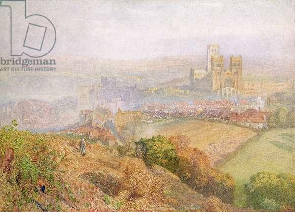 Durham, Misty with Colliery Smoke (w/c on paper)