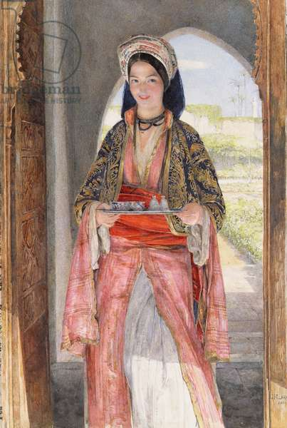 An Eastern Girl Carrying a Tray, 1859 (oil on canvas)