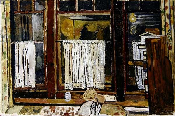 View through a Window (oil on masonite)