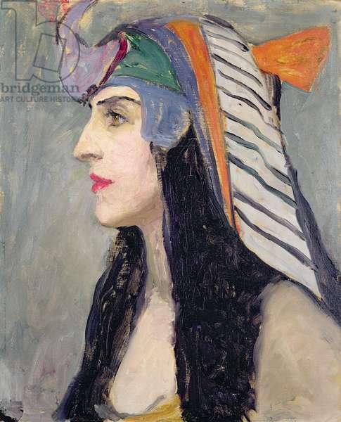 Lubov Tchernichova as Cleopatra, 1922 (oil on board)