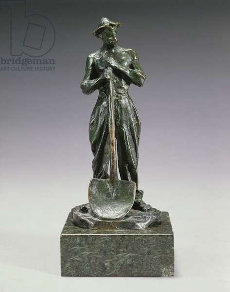 Workman with Shovel (bronze)