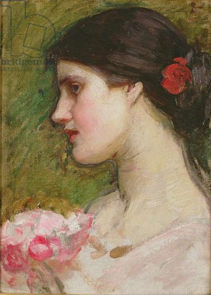 Camellias, c.1880 (oil on artist's board)