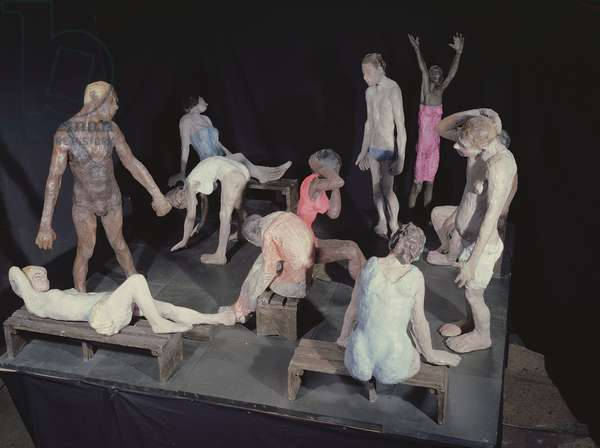 Steam Room, 1998-2001 (waxed & painted aluminium and Welsh slate)