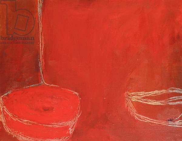 Red Still Life (oil on canvas)