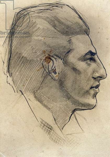 Portrait of Paul Nash, 1913 (pencil & ink on paper)