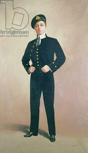 Portrait of Vesta Tilley (oil over a photograph)