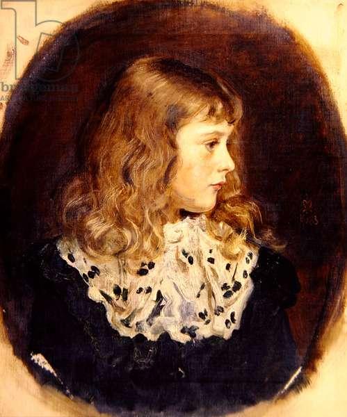 Portrait of Miss Margaret Millais (oil on canvas)